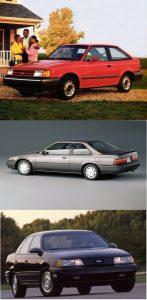 1989 Escort, Accord and Taurus